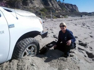 PMMC Stuck in Sand