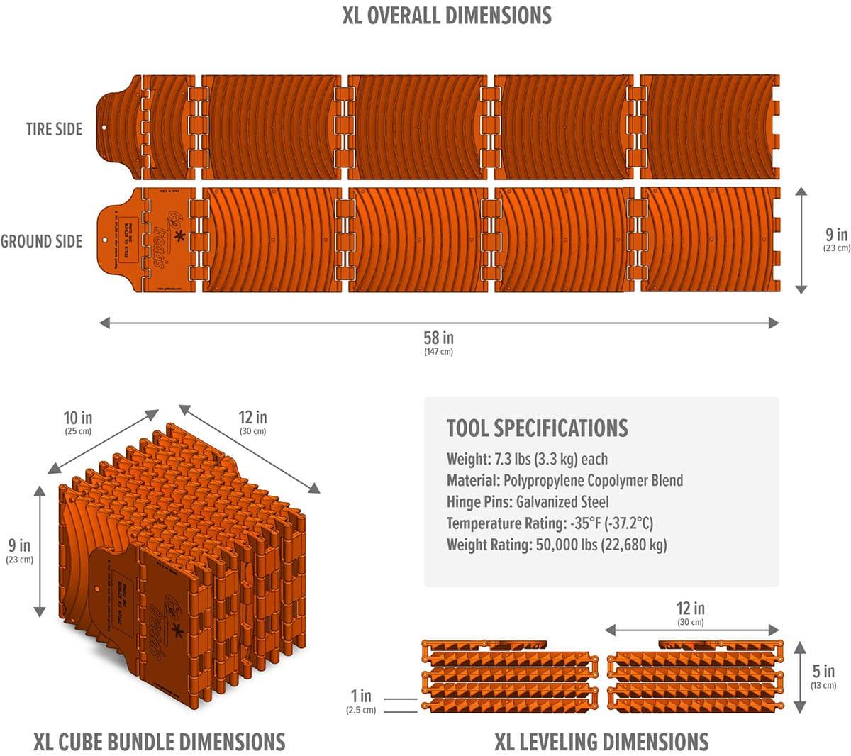 XL Dimensions