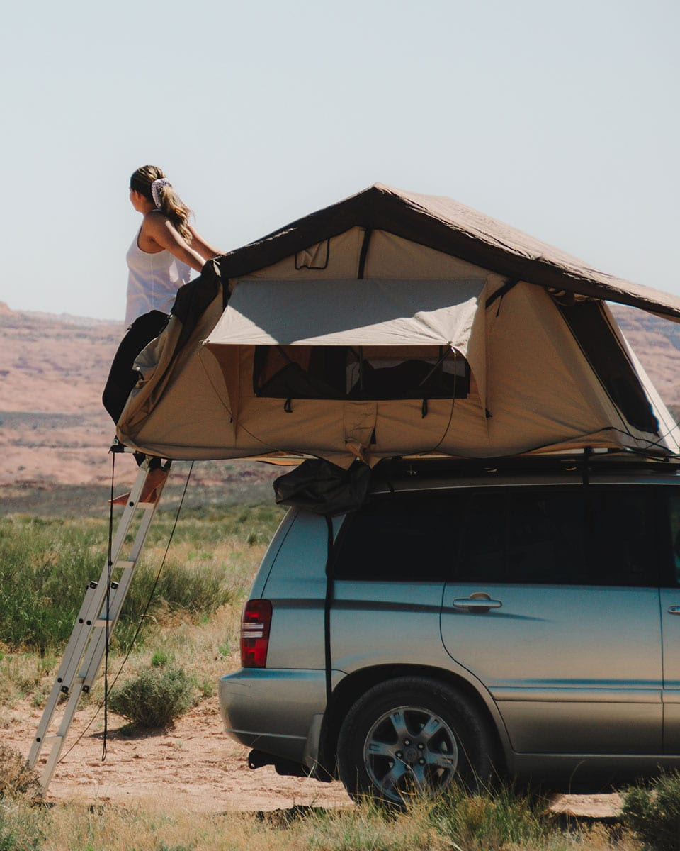 Rooftop Tent in Glen Canyon