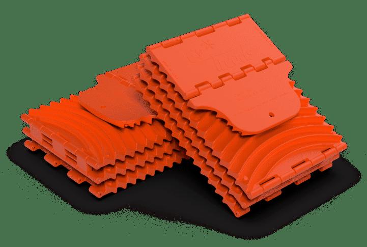 standard orange folded