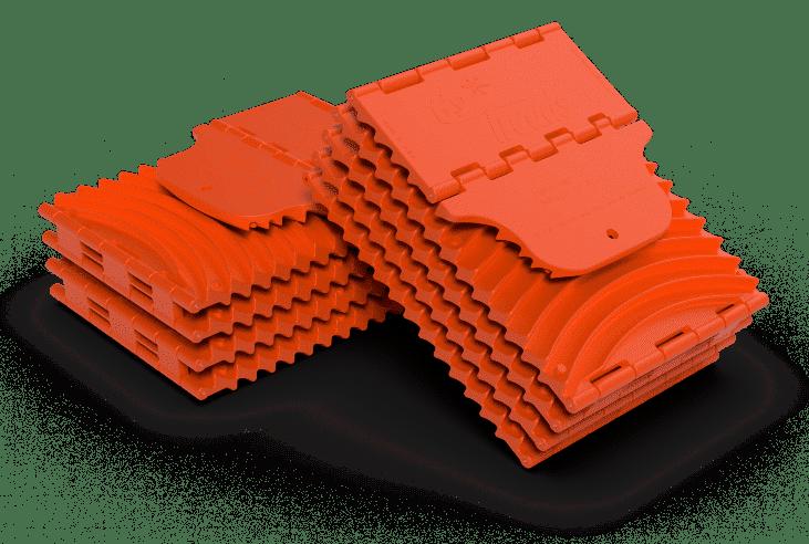 xl orange folded